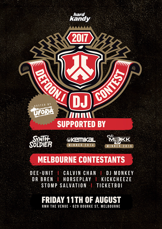 Press flyer image HEAD KANDY PRESENTS - DEFQON DJ CONTEST - FRIDAY 11 AUGUST, 2017